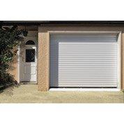 Porte de garage à enroulement motorisée ARTENS, rainures horizontales, 200x240cm