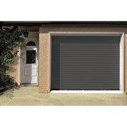 Porte de garage à enroulement motorisée ARTENS rainures horizontales, 200x240cm