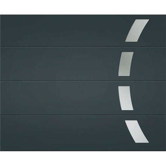 porte de garage sectionnelle toledo artens x cm leroy merlin. Black Bedroom Furniture Sets. Home Design Ideas