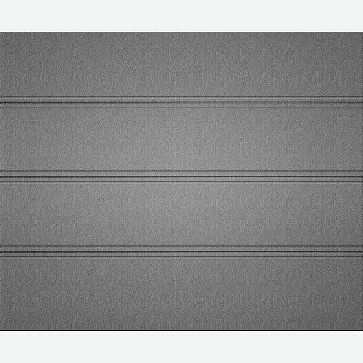 Porte de garage sectionnelle plano artens x cm for Montage porte de garage sectionnelle leroy merlin