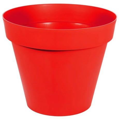 Pot à réserve d'eau en polypropylène Toscane EDA, Diam. 80 x Haut. 66 cm, tomate