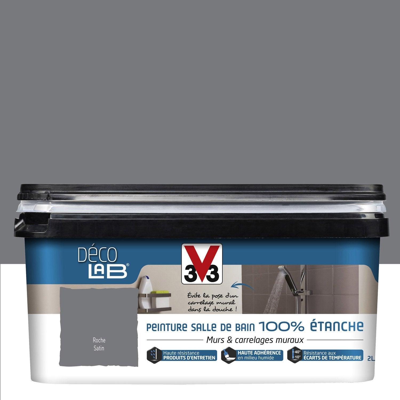 Peinture Décolab 100% étanche V33, Gris Roche, 2 l | Leroy Merlin