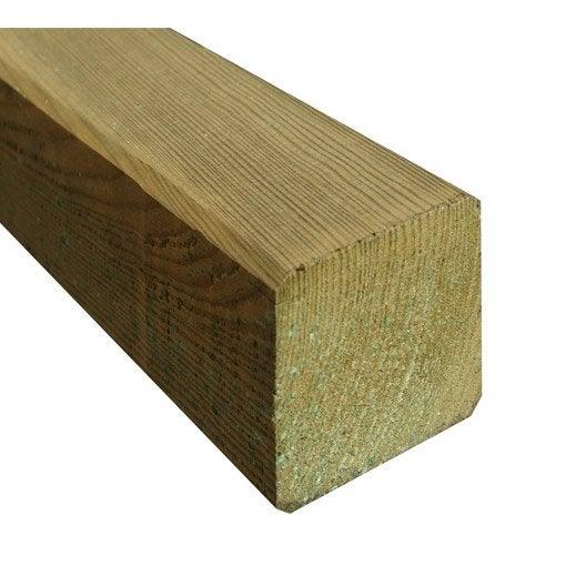 Poteau carr pyramide naturel en bois leroy merlin - Ancrage balancoire leroy merlin ...