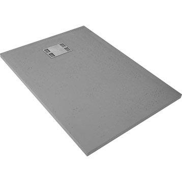 Receveur de douche rectangulaire l.120 x l.90 cm, résine gris Slate