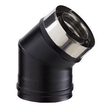 Coude pour conduit double paroi POUJOULAT, D80 mm 45°