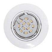 Kit de 3 spots à encastrer ou à fixer Peneto orientable led EGLO GU10 blanc