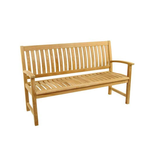 Banc 3 places de jardin en bois azur naturelle leroy merlin - Bac de jardin en bois ...