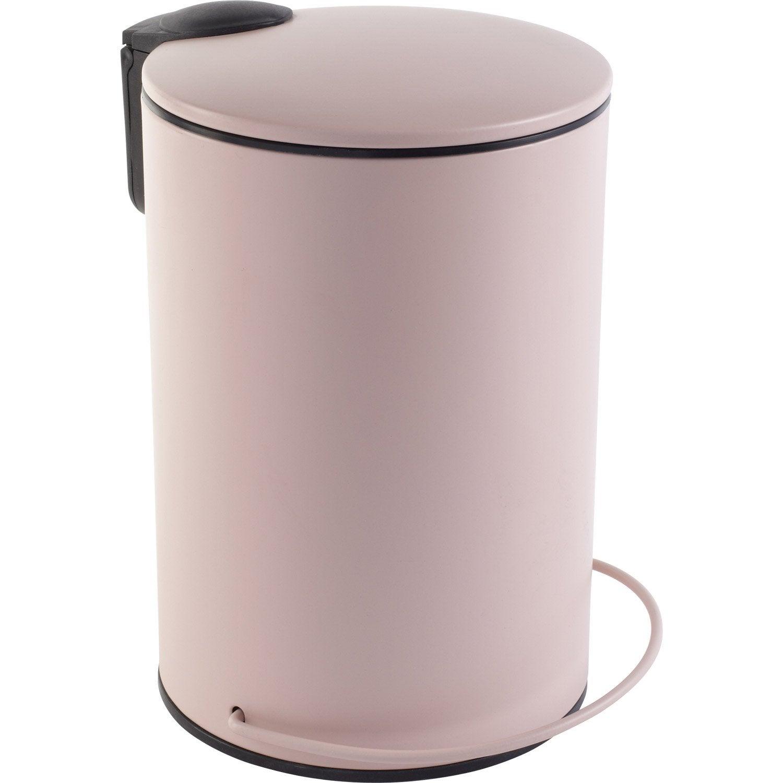 poubelle de salle de bains 3 l rose blush 5 sensea ic ne leroy merlin. Black Bedroom Furniture Sets. Home Design Ideas