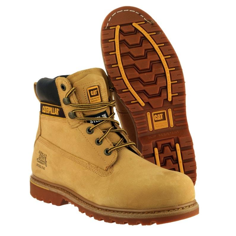 chaussures de séparation 1fd81 4d835 Chaussures de sécurité hautes CATERPILLAR Holton, coloris beige T40