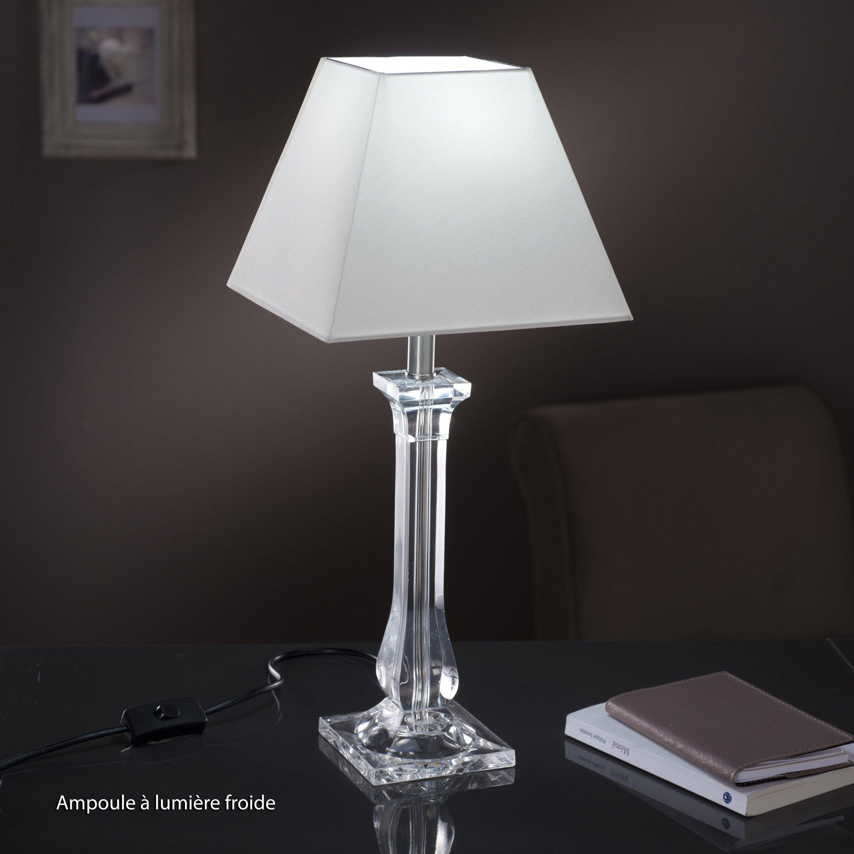 Pied De Lampe Fantasy Acrylique Transparent 39 Cm