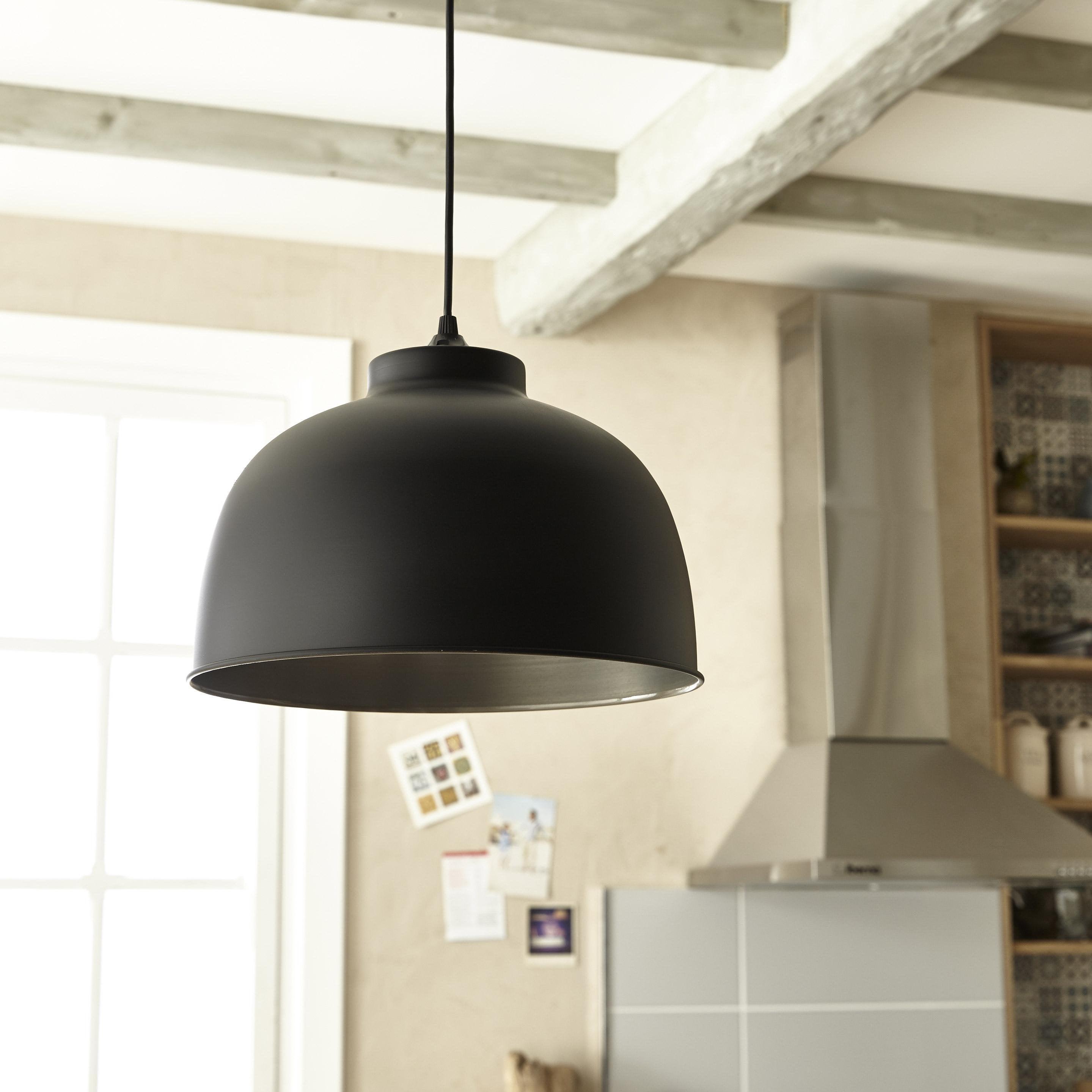 Suspension métal noir mat COREP Little dock 1 lumière(s) D.31 cm