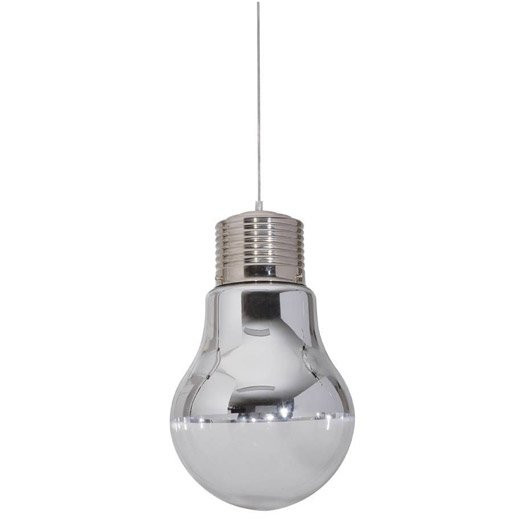 Suspension pop ampoule verre blanc 1 x 60 w corep leroy - Suspension en forme d ampoule ...