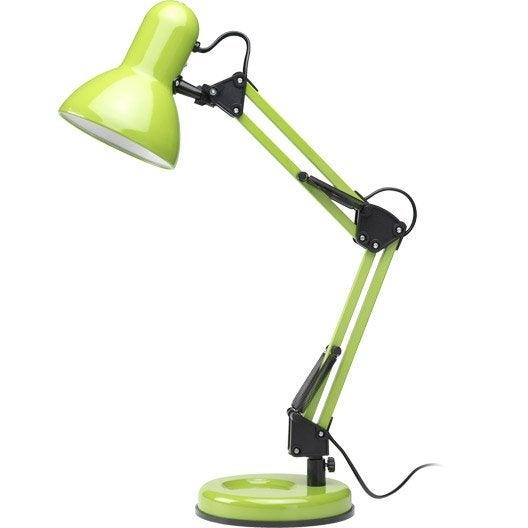 Lampe de bureau poser vert techno leroy merlin - Lampe a poser leroy merlin ...