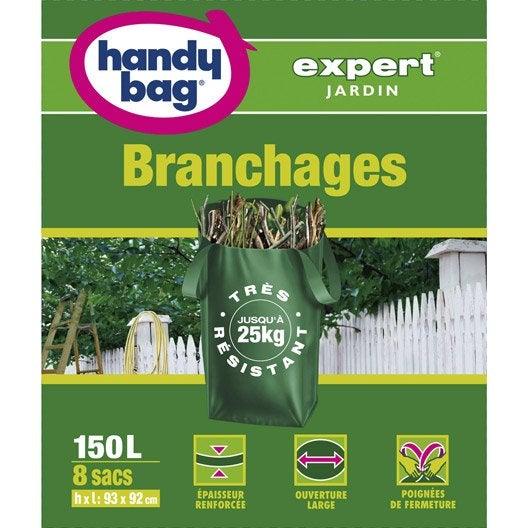 lot de 8 sacs v g taux branchages de jardin handy bag 150 l leroy merlin. Black Bedroom Furniture Sets. Home Design Ideas