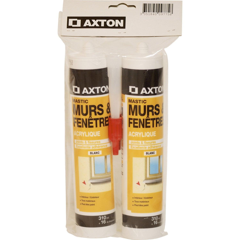 Mastic d 39 tanch it axton mur et fen tre 310 ml blanc leroy merlin - Etancheite mur exterieur ...