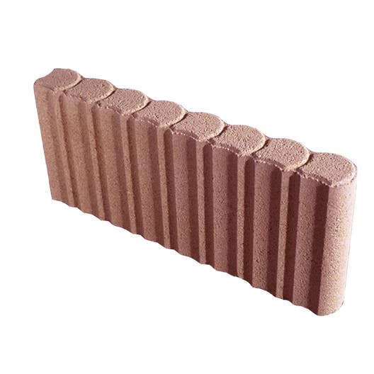Bordure droite biface b ton rouge x cm leroy merlin - Bordure beton de jardin ...