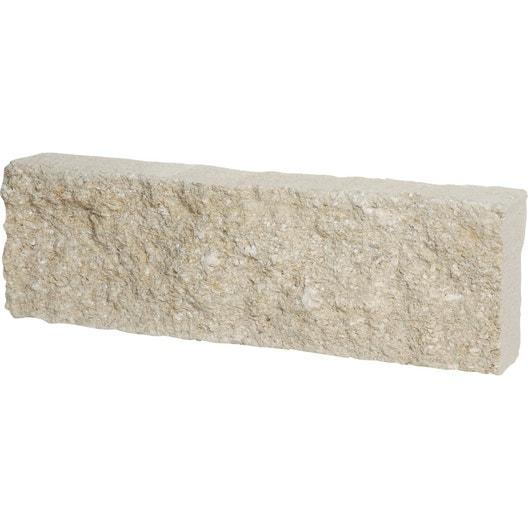 Bordure droite Pierre de provence pierre reconstituée blanc, H.15 x ...