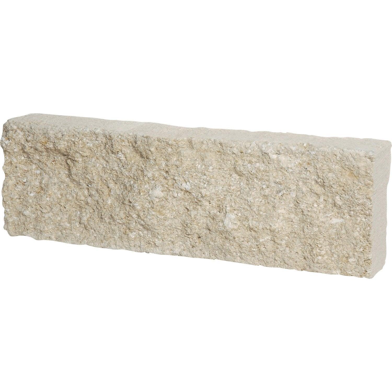 Bordure droite Pierre de provence pierre reconstituée blanc, H.15 ...