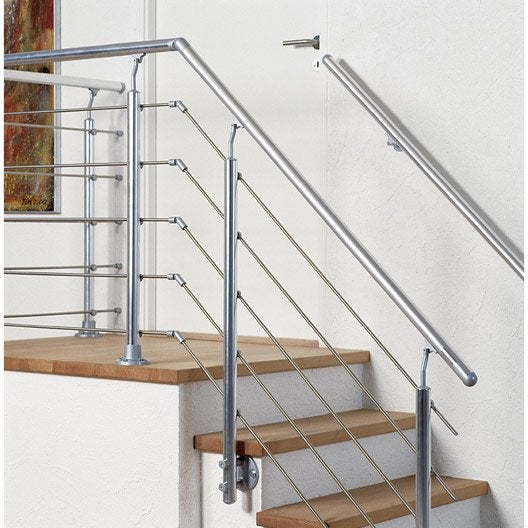 Balustrade rolo gris obapi leroy merlin for Barriere escalier leroy merlin