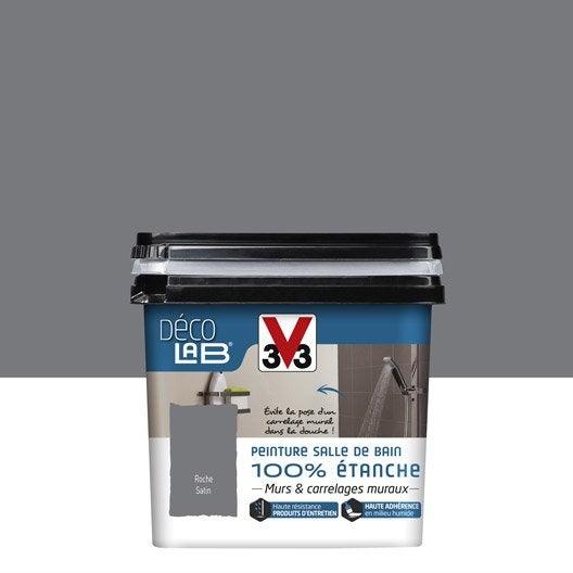 peinture d colab 100 tanche v33 gris roche leroy merlin. Black Bedroom Furniture Sets. Home Design Ideas