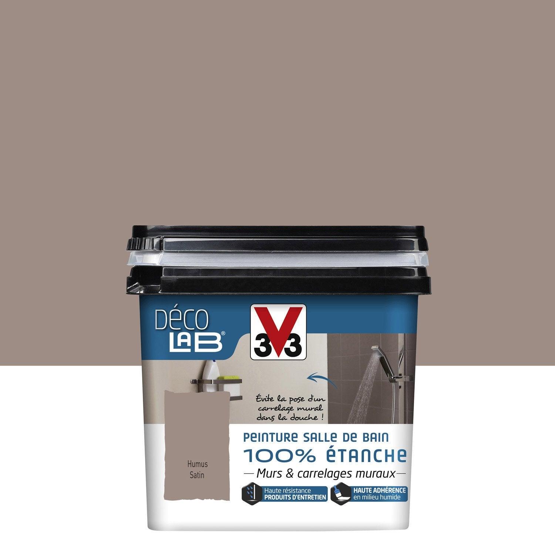 Peinture Décolab 100% étanche V33, Humus, 0.75 L
