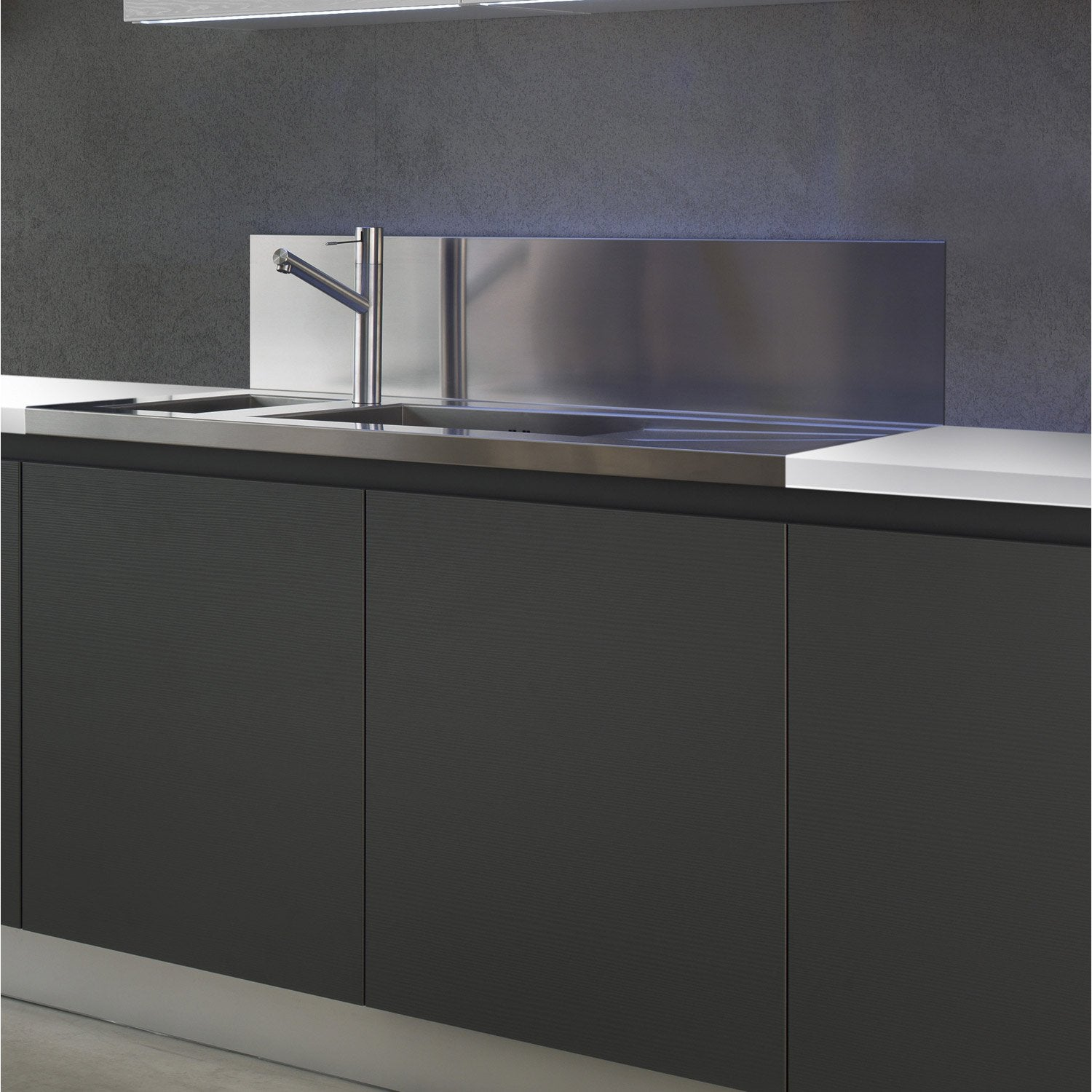 Protege Mur Cuisson protection évier en inox, anti-traces   leroy merlin