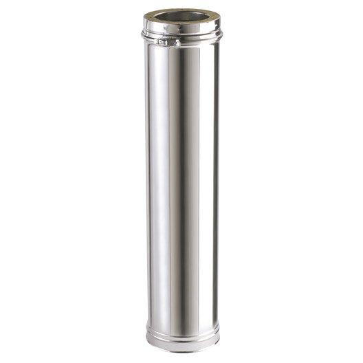 tuyau pour conduit double paroi isotip joncoux, d153 mm 1.25 m
