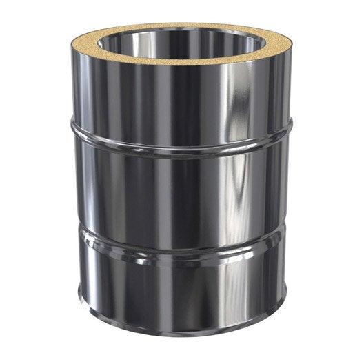 tuyau pour conduit double paroi isotip joncoux d80 mm m leroy merlin. Black Bedroom Furniture Sets. Home Design Ideas