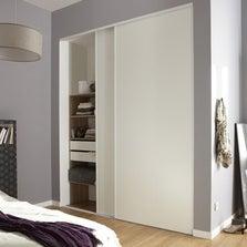 Lot de 2 portes de placard coulissante blanc l.210 x H.250 cm