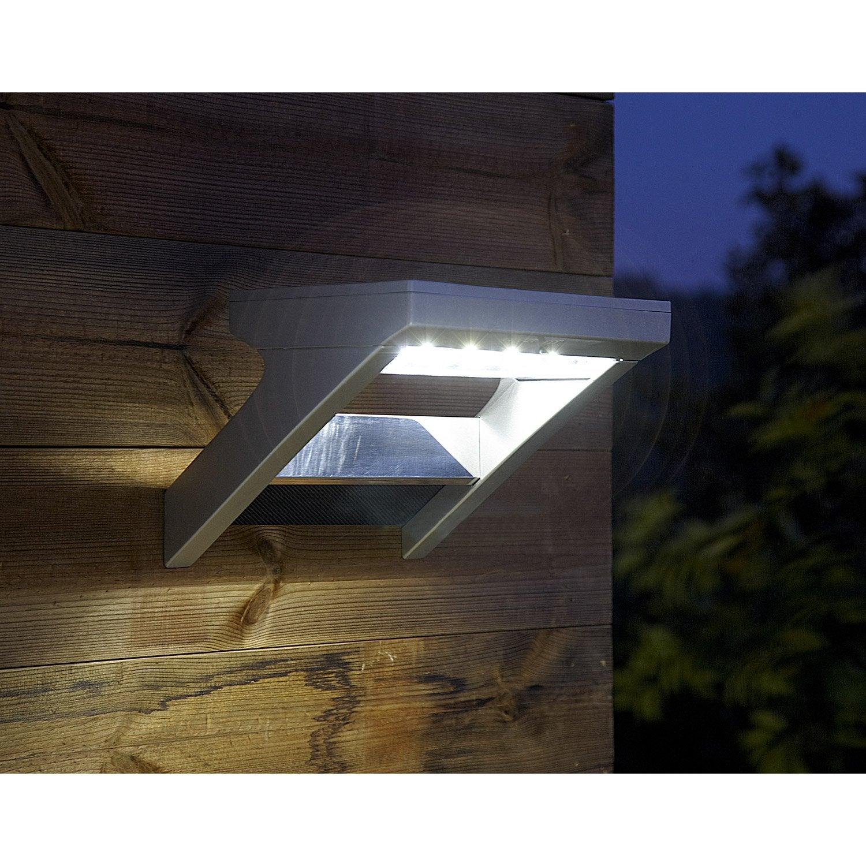 Applique solaire Malibu 300 Lm aluminium INSPIRE | Leroy Merlin