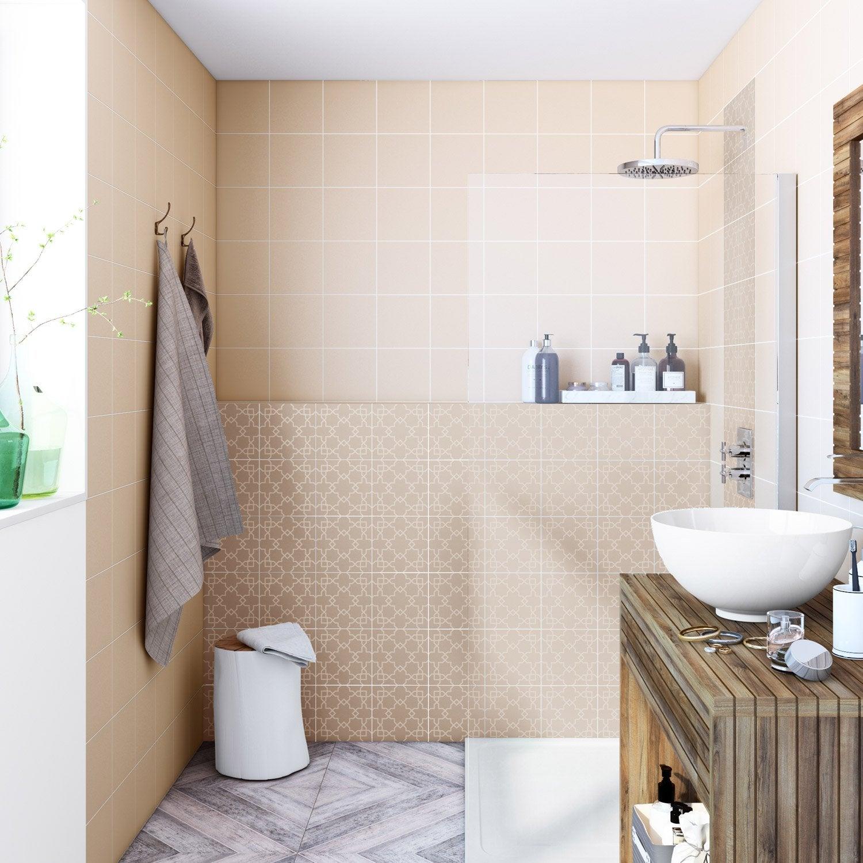 fa ence mur gris dor astuce x cm leroy merlin. Black Bedroom Furniture Sets. Home Design Ideas