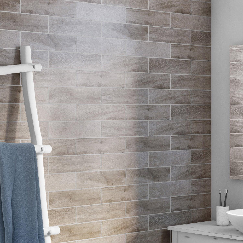 Carrelage Mural Sur Bois carrelage mur et sol bois brun clair mat l.8.5 x l.35 cm heritage ariana