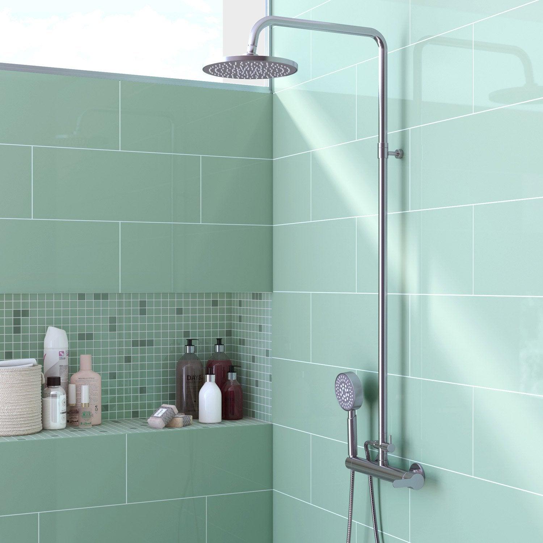 Faïence mur vert d'eau, Loft brillant l.20 x L.50.2 cm