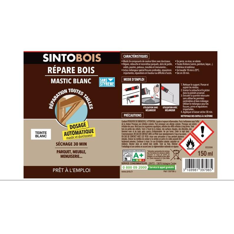 Pâte à Réparer Sinto Bois Sinto 150 Ml