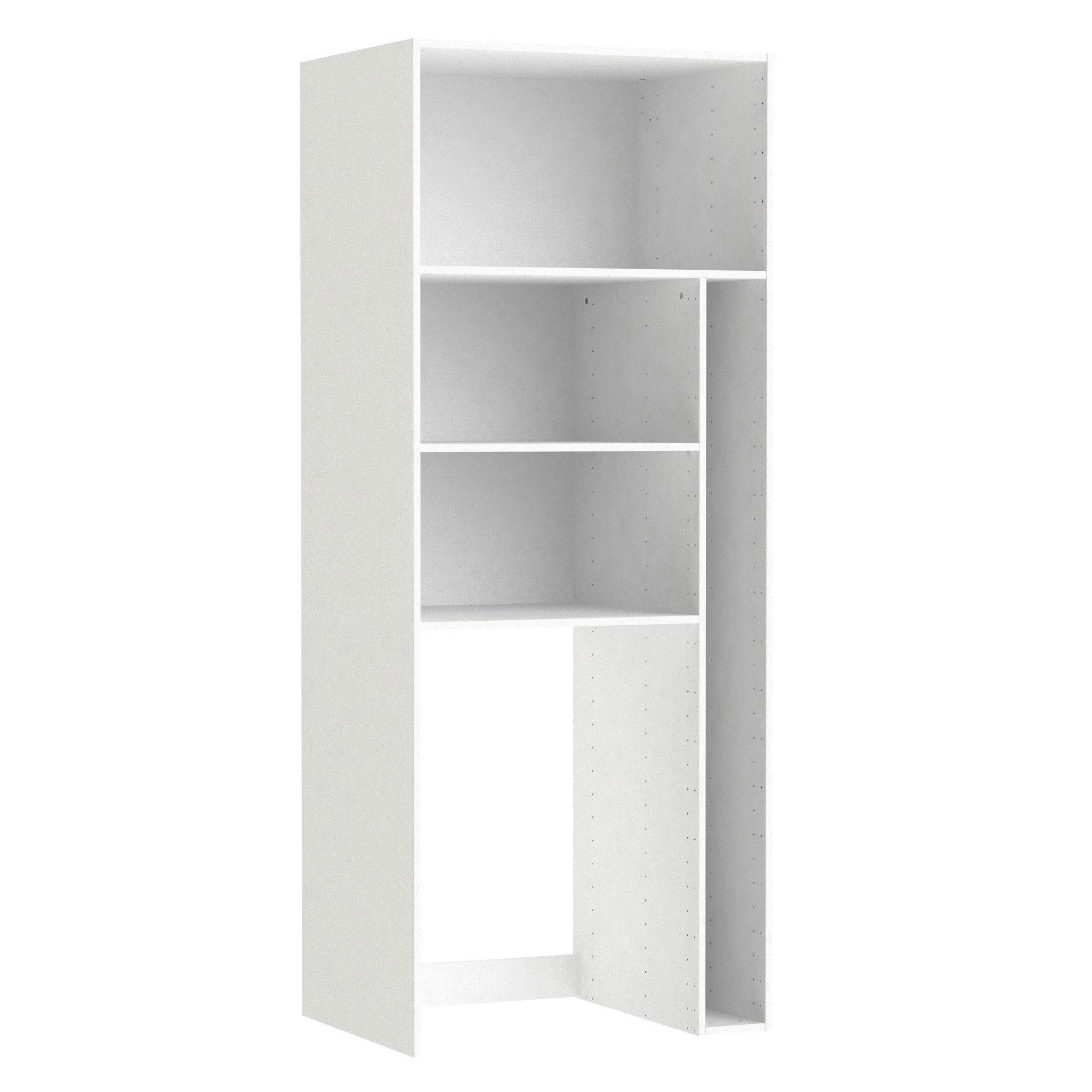 Cache Machine A Laver caisson spaceo home, blanc h.200 x l.80 x p.60 cm
