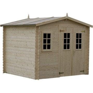 Abri de jardin en bois Luby, 5.48 m², ép. 28 mm
