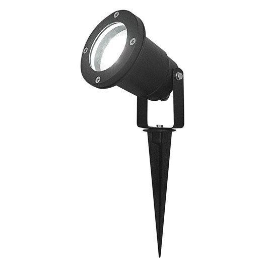 Spot à piquer extérieur LED intégrée noir LUMIHOME  Leroy ...