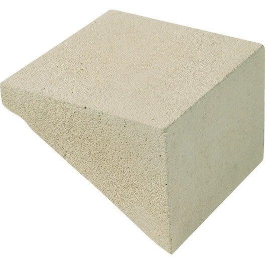 cale pour rampe nautile en pierre reconstitu e beige x x cm leroy merlin. Black Bedroom Furniture Sets. Home Design Ideas