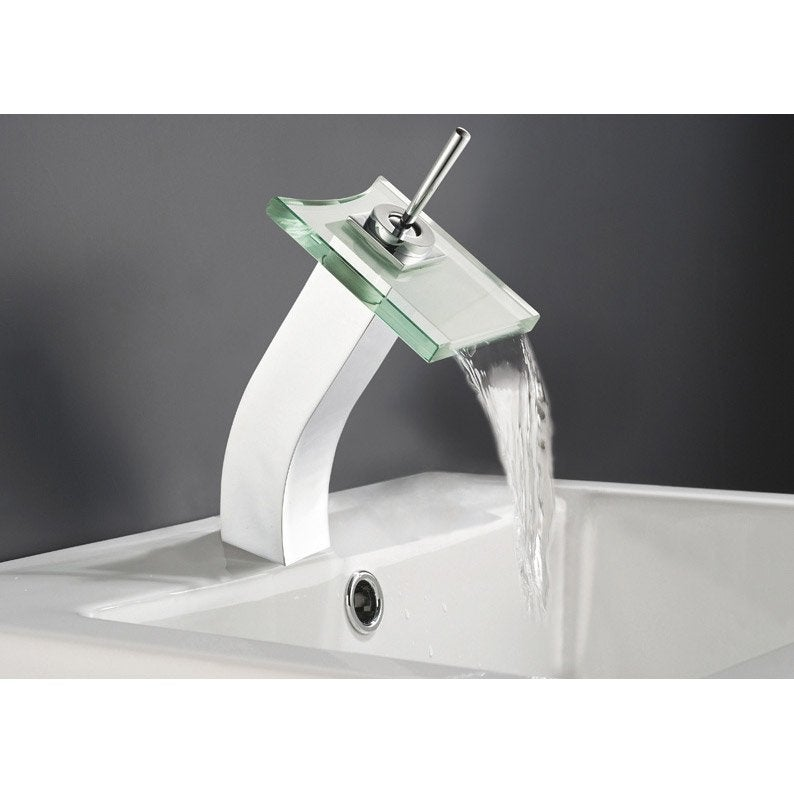 Mitigeur de lavabo bec haut Cristali chromé