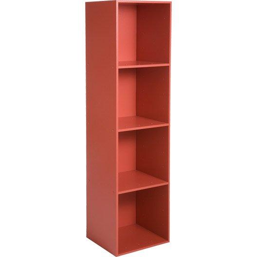 Etag re 4 cases multikaz rouge l35 2 x h137 2 x p31 7 cm leroy merlin - Etagere metallique leroy merlin ...