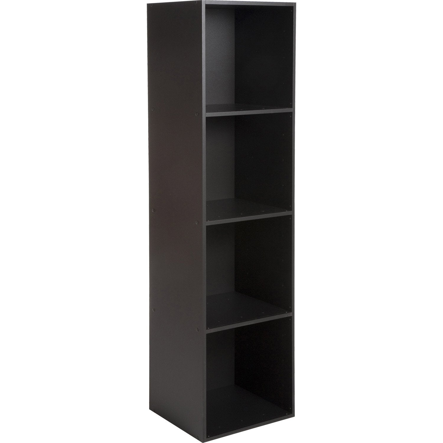 etag re 4 cases multikaz noir x x cm leroy merlin. Black Bedroom Furniture Sets. Home Design Ideas