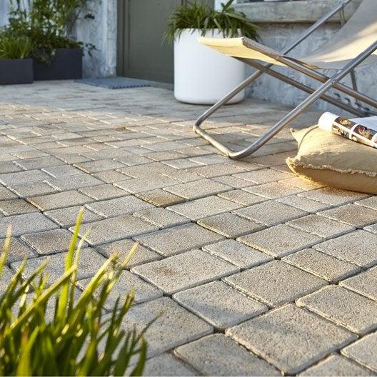 Pav pour terrasse et jardin dalle et pav ext rieur for Pave beton exterieur