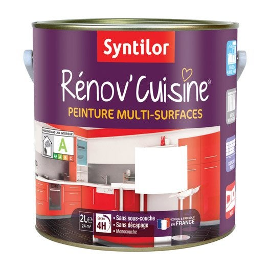Peinture r nov 39 cuisine syntilor blanc 2 l leroy merlin - Peinture renov cuisine ...