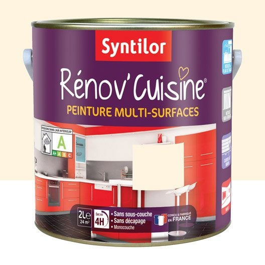 Peinture r nov 39 cuisine syntilor beige vanille 2 l for Renov cuisine syntilor