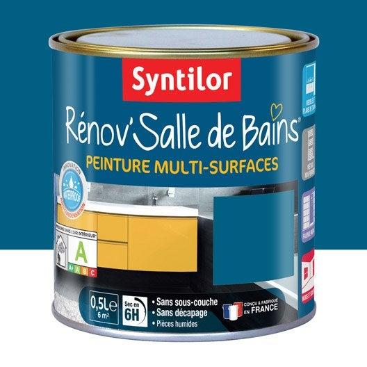 Peinture r nov 39 salle de bains syntilor bleu lagon 0 5 l for Peinture salle de bain bleu