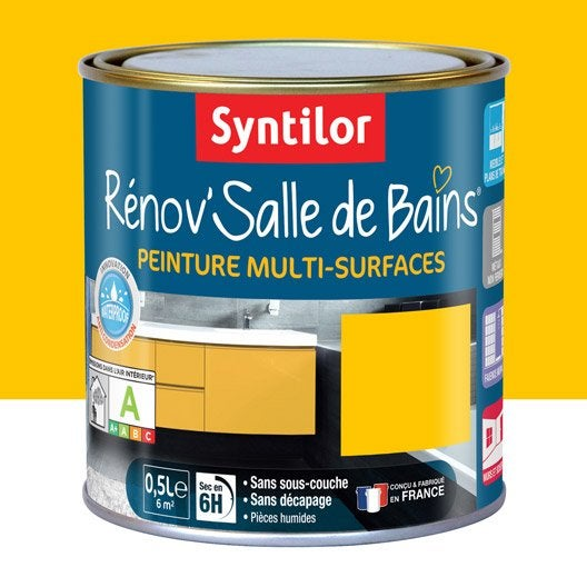 peinture r nov 39 salle de bains syntilor jaune tonic 0 5l. Black Bedroom Furniture Sets. Home Design Ideas