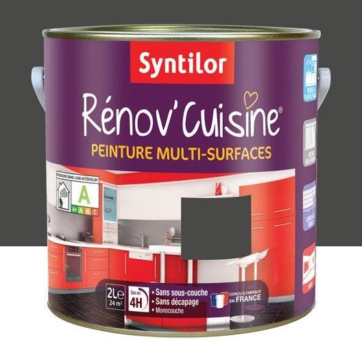 Peinture r nov 39 cuisine syntilor gris pavot 2 l leroy for Peinture cuisine gris