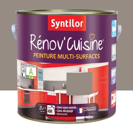 peinture r nov 39 cuisine syntilor brun macaron 2 l leroy merlin. Black Bedroom Furniture Sets. Home Design Ideas