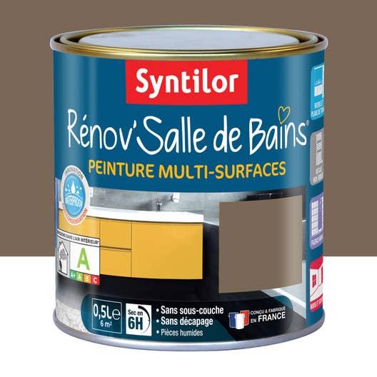 Salle De Bain Bigmat ~ Peinture R Nov Salle De Bains Brun Velout Satin Syntilor 0 5 L