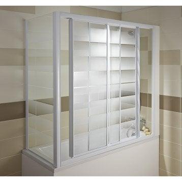 Pare-baignoire intégral verre de sécurité 3 mm sérigraphié, Europa4